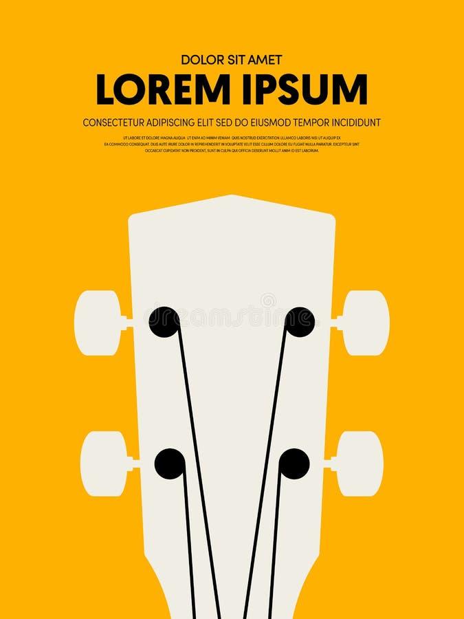 Van het de afficheontwerp van het muziekfestival het malplaatje moderne uitstekende retro stijl vector illustratie