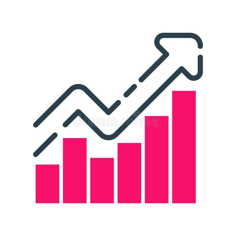 Van het de bedrijfs grafiekpictogram van het motivatieconcept het ontwerp van de strategieontwikkeling en van de het groepswerkgr stock illustratie