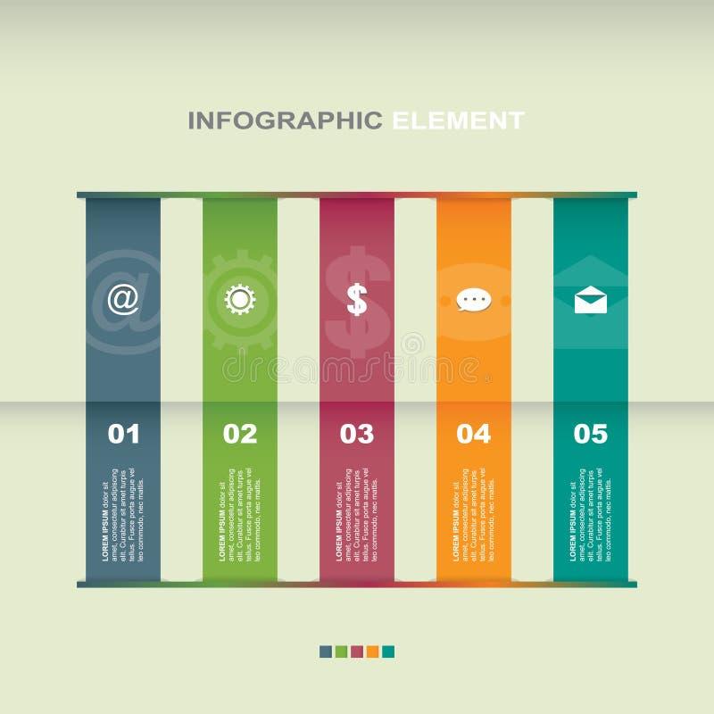 Van het de Bedrijfs stappendiagram van de staafdiagramgrafiek Illustratie de Statistische van Infographic vector illustratie