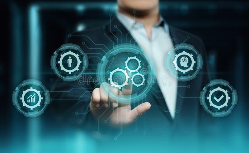 Van het de Bedrijfs technologieproces van de automatiseringssoftware het Systeem concept stock afbeeldingen
