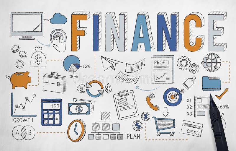 Van het de Besparingengeld van de financiëneconomie het Kredietconcept stock illustratie