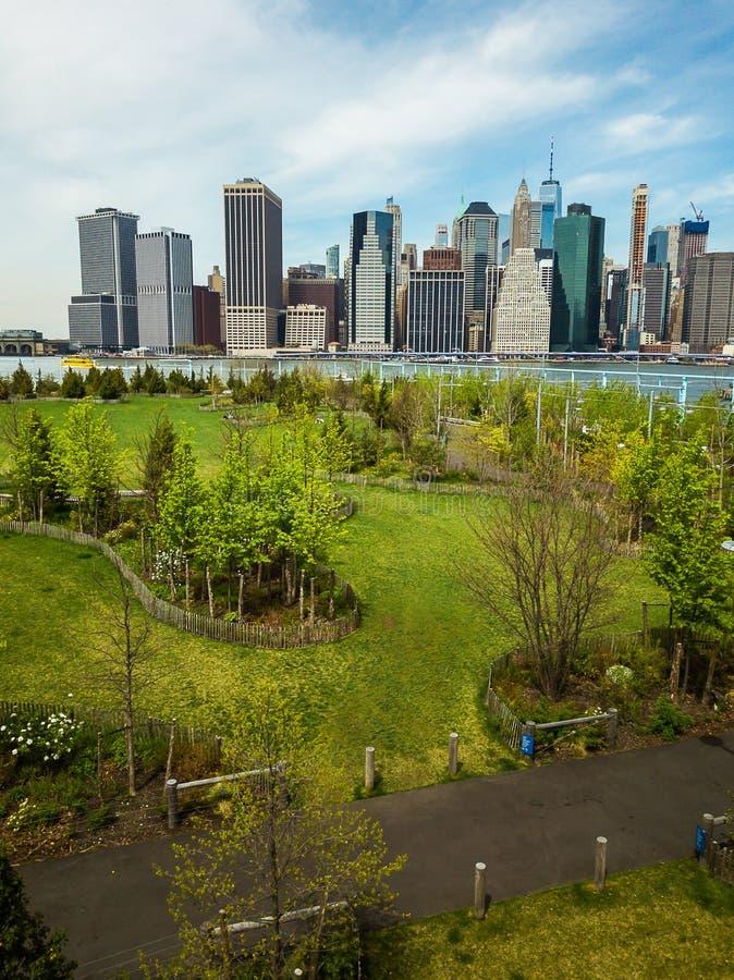 Van het de Brugpark van Brooklyn pijler 6 stock afbeeldingen