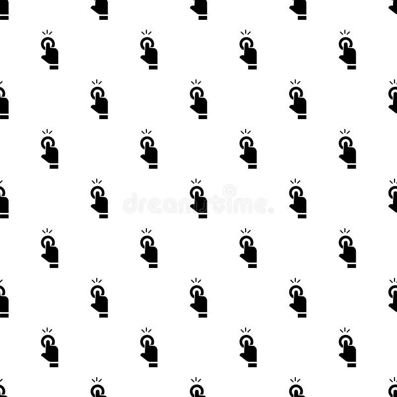 Van het de curseurpatroon van de vingeraanraking de naadloze vector stock illustratie