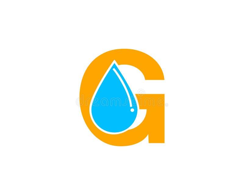 Van het de dalingsembleem van het brieveng water de elementen van de het pictogramontwerpsjabloon vector illustratie