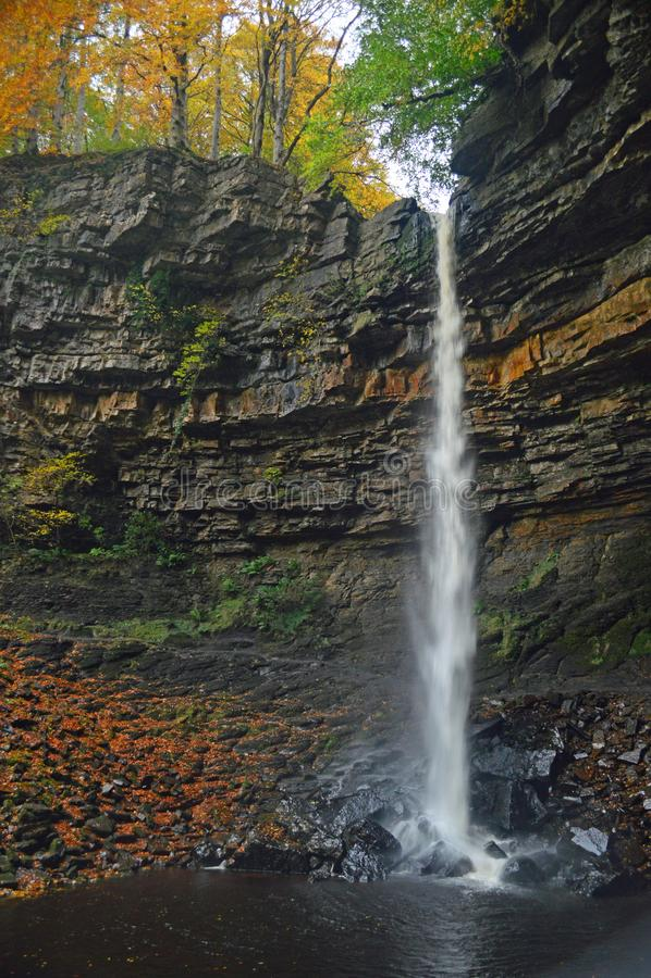 Van het de Dallen de Nationale Park van Yorkshire Dalingen van Hardraw stock fotografie