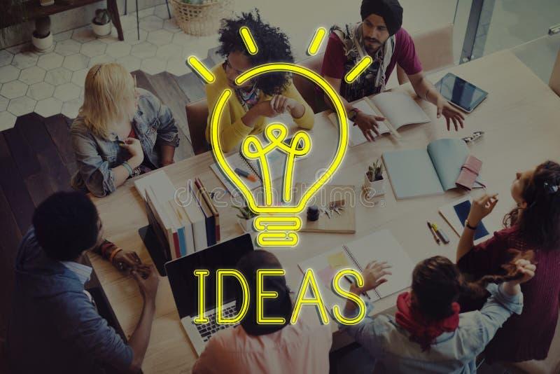 Van het de Doelstellingsplan van het ideeënontwerp het Concept van de de Strategietactiek royalty-vrije stock foto