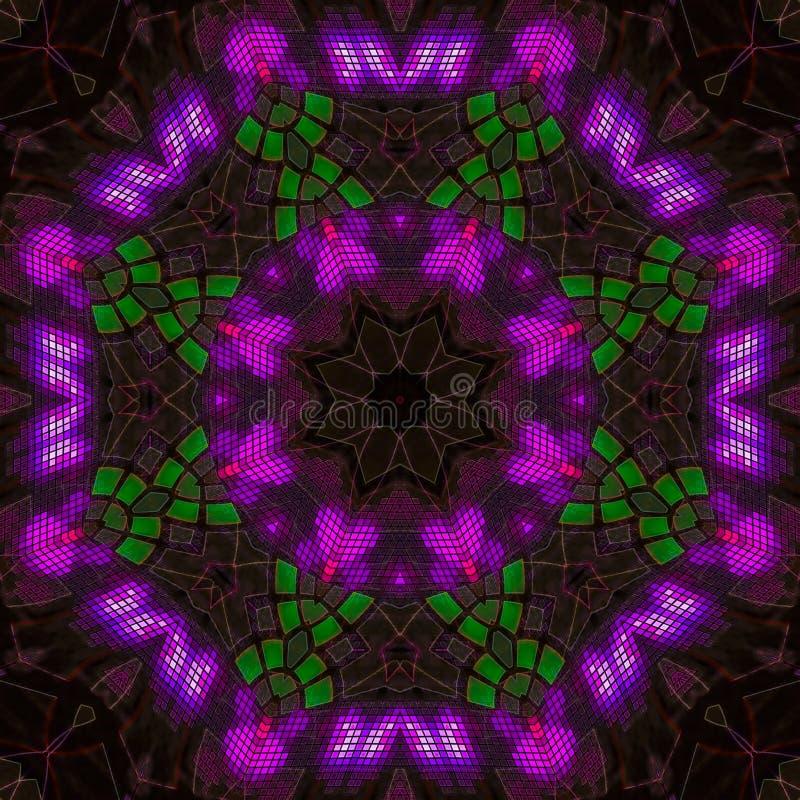 Van het de drukpatroon van het caleidoscoop creatieve symbool van de de mysticus futuristische creativiteit van het de manierpatr stock illustratie