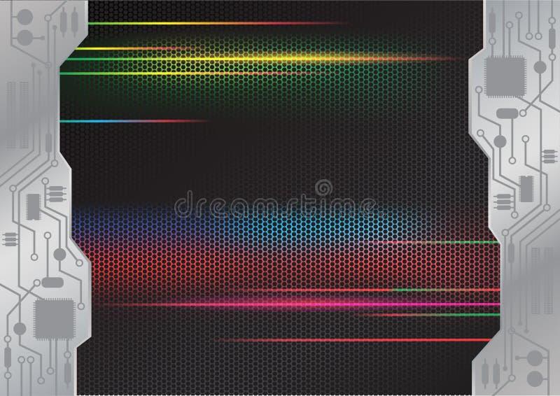 Van het de Elektronikapatroon van de snelheidsbeweging het ontwerpachtergrond vector illustratie