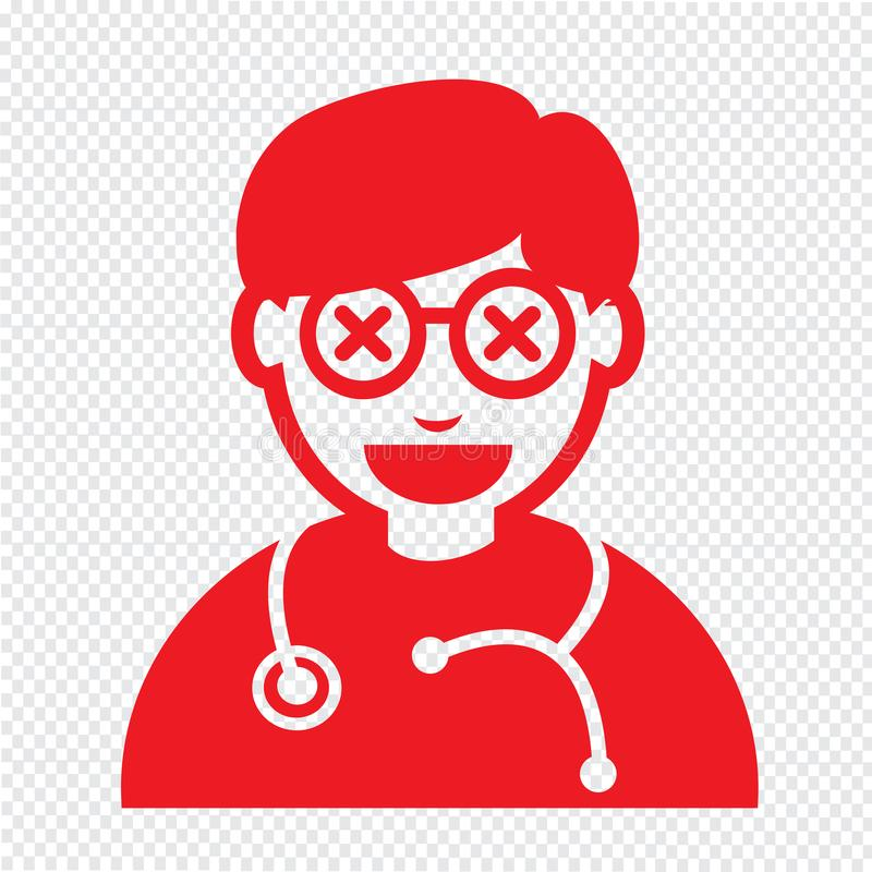 Van het de emotiepictogram van artsenFace het ontwerp van het de Illustratieteken royalty-vrije illustratie