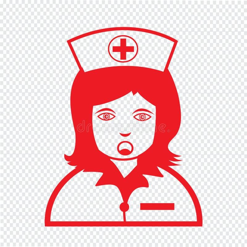 Van het de emotiepictogram van verpleegstersFace het ontwerp van het de Illustratieteken stock illustratie