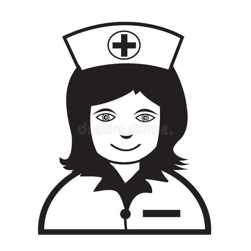 Van het de emotiepictogram van verpleegstersFace het ontwerp van het de Illustratieteken royalty-vrije illustratie