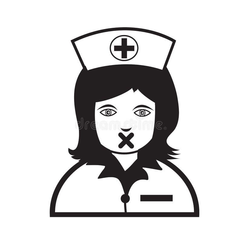Van het de emotiepictogram van verpleegstersFace het ontwerp van het de Illustratieteken vector illustratie