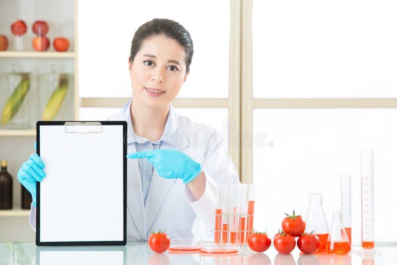 Van het de gegevenspunt van de opnamegenetische modificatie het lege klembord stock afbeelding
