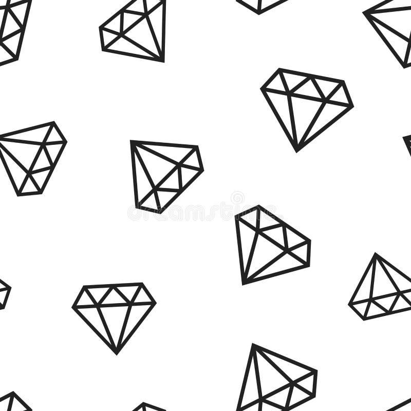 Van het de gempictogram van het diamantjuweel naadloze het patroonachtergrond De zaken bedriegen royalty-vrije illustratie