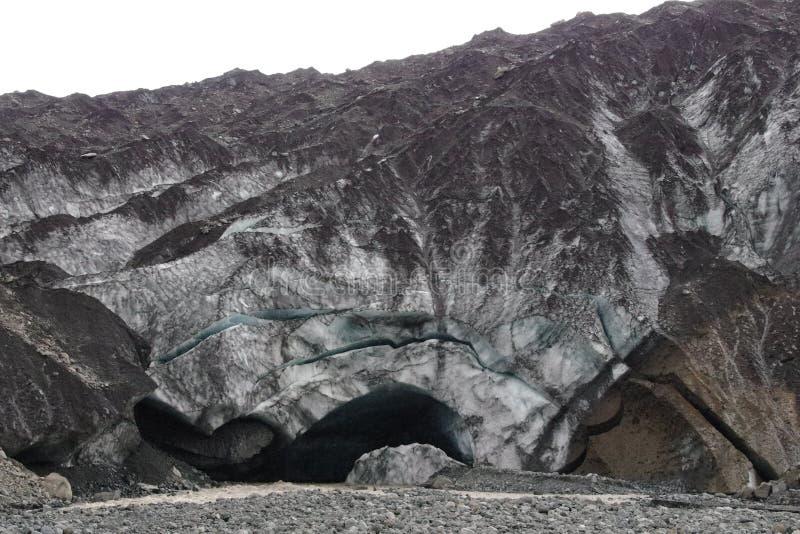 Van het de gletsjerhol van IJsland de ingangsgletsjer virkisjökull royalty-vrije stock afbeeldingen
