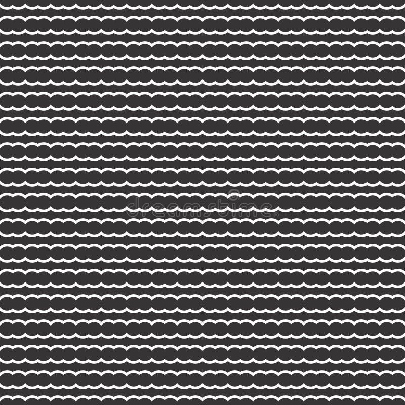 Van het de golfmotief van de lijnpunt naadloos het ontwerppatroon stock illustratie