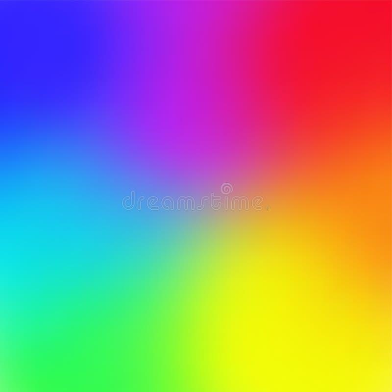 Van het de gradiëntnetwerk van de regenboogkleur In stijl Vectorillustratie als achtergrond stock illustratie