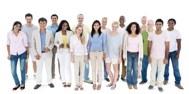 Van het de Groepsbehoren tot een bepaald ras van de mensendiversiteit het Toevallige Communautaire Concept royalty-vrije stock afbeelding
