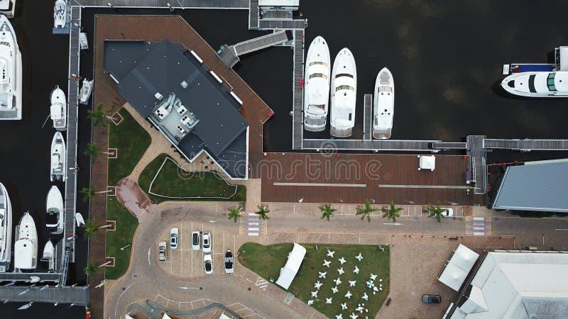 Van het de Hoopeiland van de boothaven de Gouden Kust stock foto's