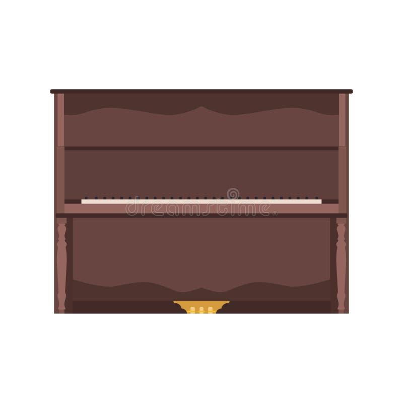 Van het de illustratieoverleg van de pianomuziek vector het toetsenbordachtergrond mus vector illustratie