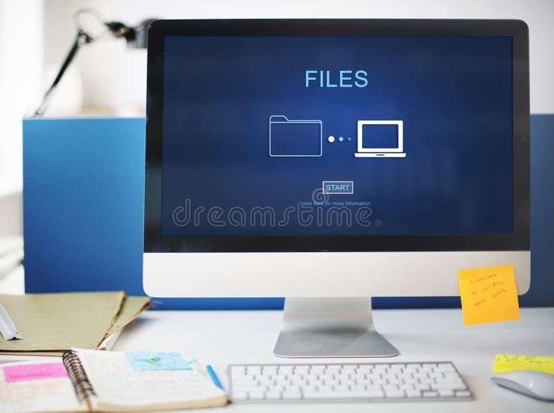 Van het de Informatiebericht van dossiersgegevens het Concept van het het Netwerkaandeel royalty-vrije stock fotografie