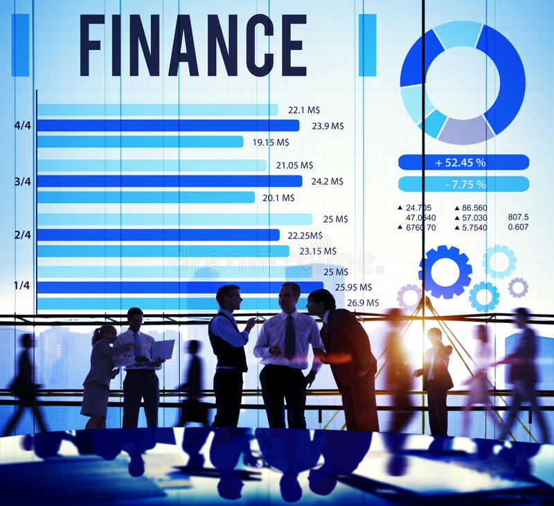 Van het de Investeringsgeld van de financiëneconomie het Financiële Concept stock afbeelding