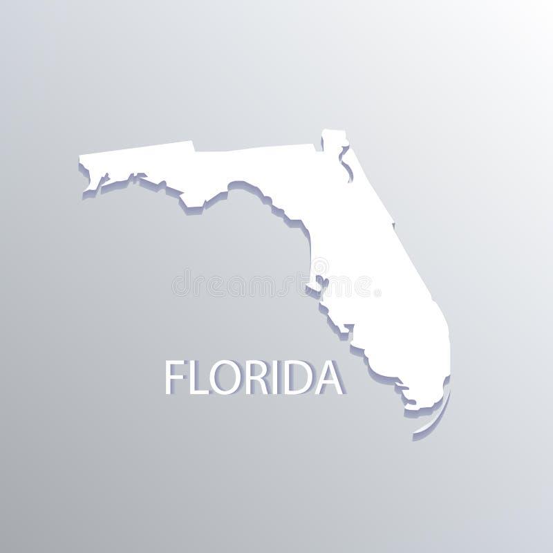 Van het de kaartembleem van de staat van Florida de vlakke vectorillustratie royalty-vrije illustratie