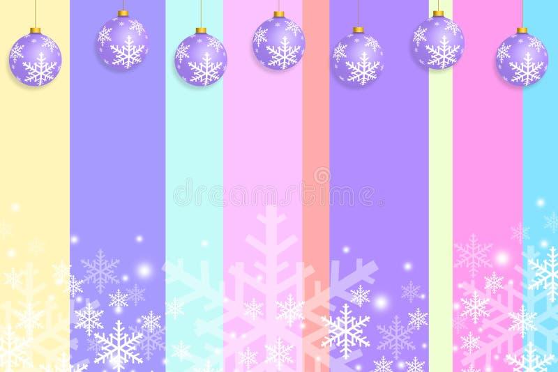Van het de kaartmalplaatje van de Kerstmisgroet het ontwerppastelkleur vector illustratie