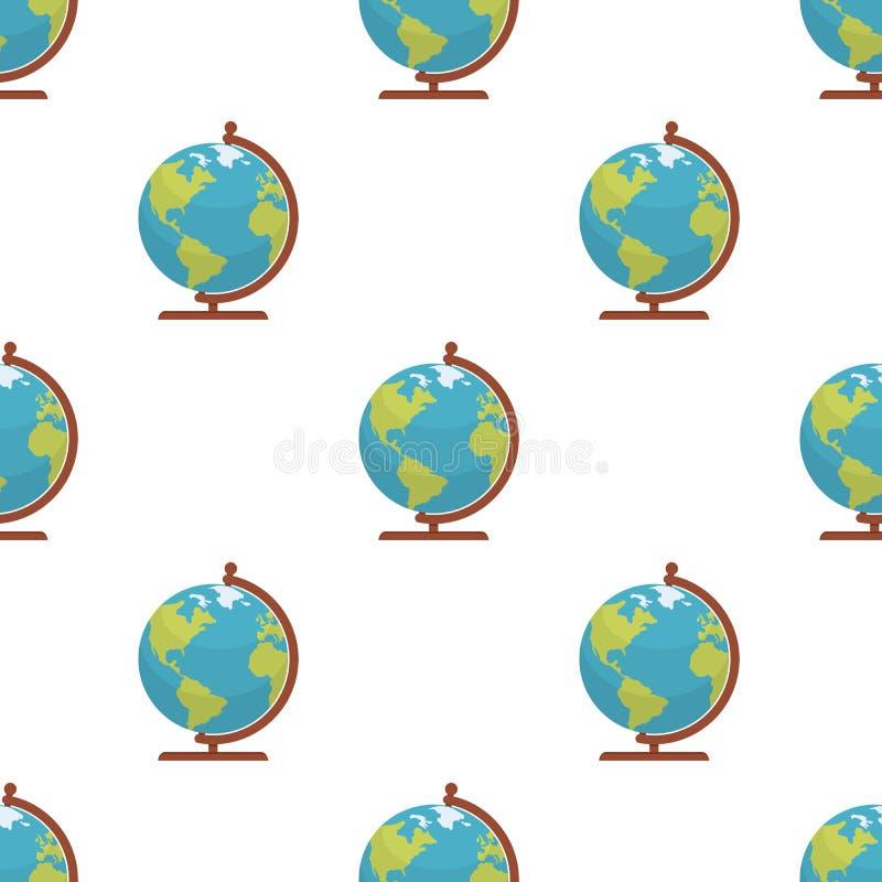 Van het de Kaartpictogram van de bolwereld het Naadloze Patroon vector illustratie