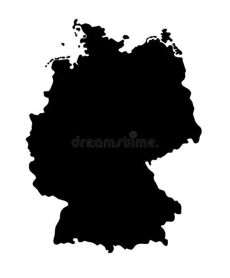Van het de kaartsilhouet van Duitsland de Patriottische kaart Duitsland stock illustratie
