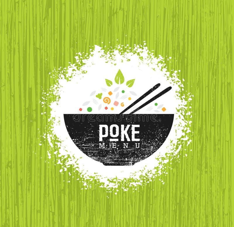Van het de Keukenrestaurant van de porkom Hawaiiaans Vector het Ontwerpelement De gezonde Creatieve Ruwe Illustratie van het Voed stock illustratie