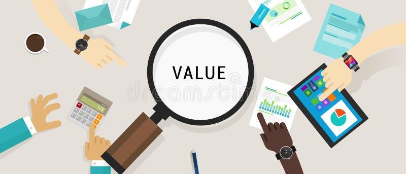 Van het de klantenconcept van het waardevoorstel vector het pictogramillustratie stock illustratie