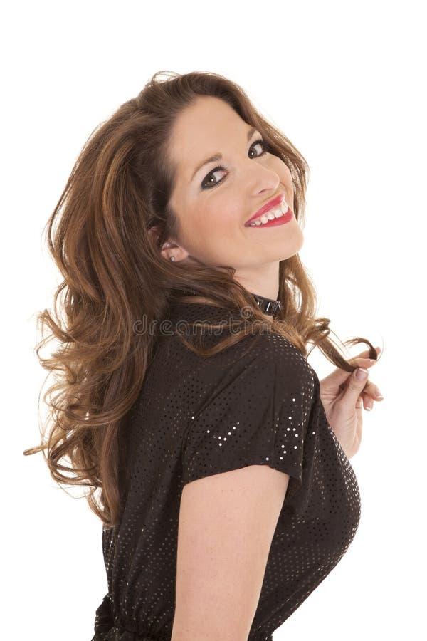 Download Van Het De Kledingsspel Van De Vrouw Zwarte Het Haar Hoofdrug Stock Foto - Afbeelding bestaande uit vrolijk, kleding: 29510504