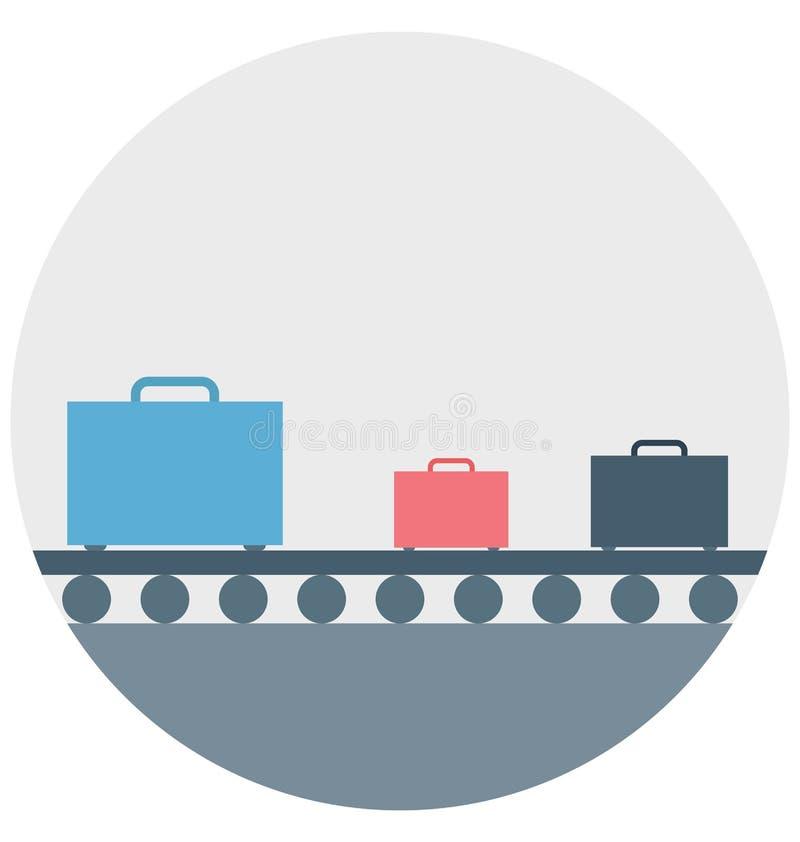 Van het de Kleuren het Vector Geïsoleerde Pictogram van de bagageillustratie gemakkelijke editable en speciale gebruik voor Vrije vector illustratie