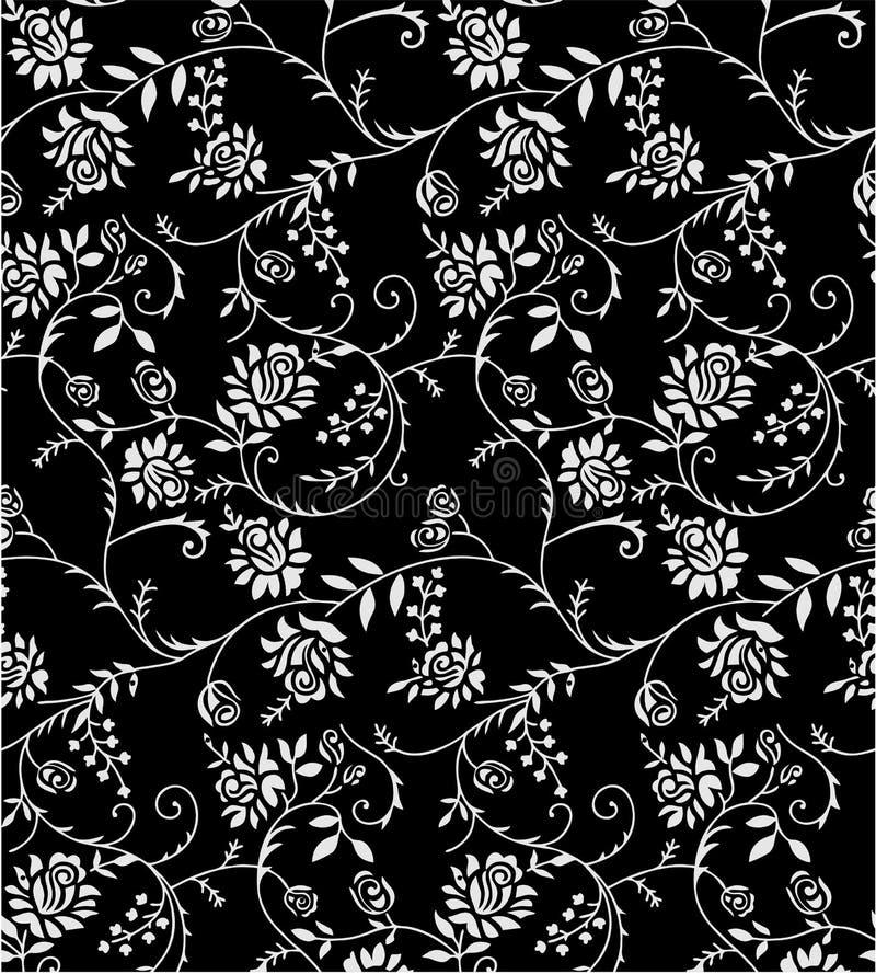 Van het de kleurenontwerp van Paisley naadloze Bloemen het patroongrens stock illustratie