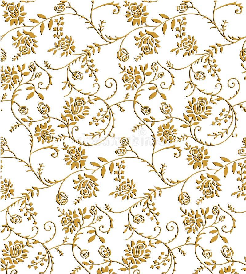 Van het de kleurenontwerp van Paisley naadloze Bloemen het patroongrens royalty-vrije illustratie