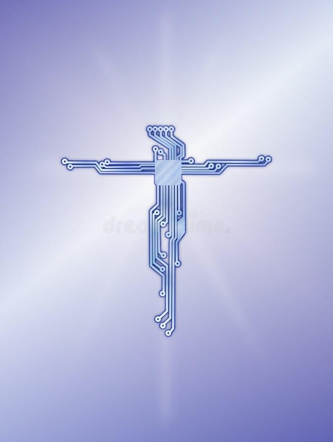 Van het de krings blauwe diagram van Jesus Christ dwars de bannerachtergrond vector illustratie