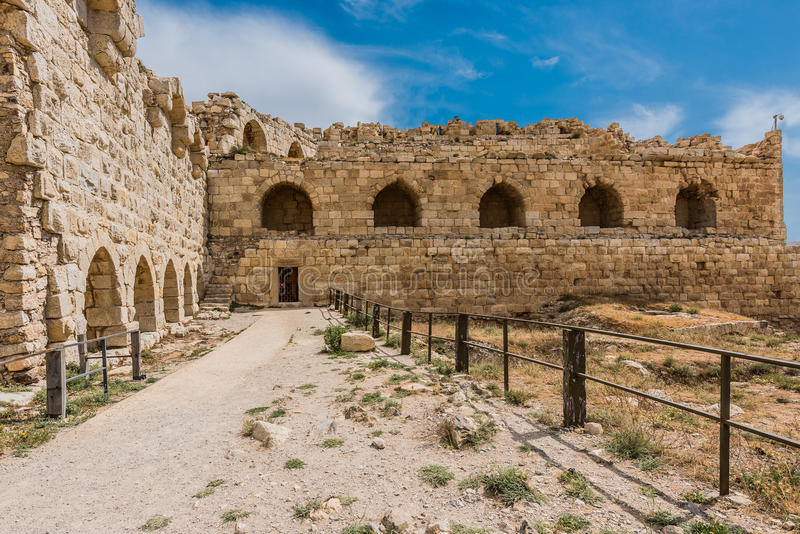 Van het de kruisvaarderkasteel van Al Karak kerak de vesting Jordanië royalty-vrije stock fotografie