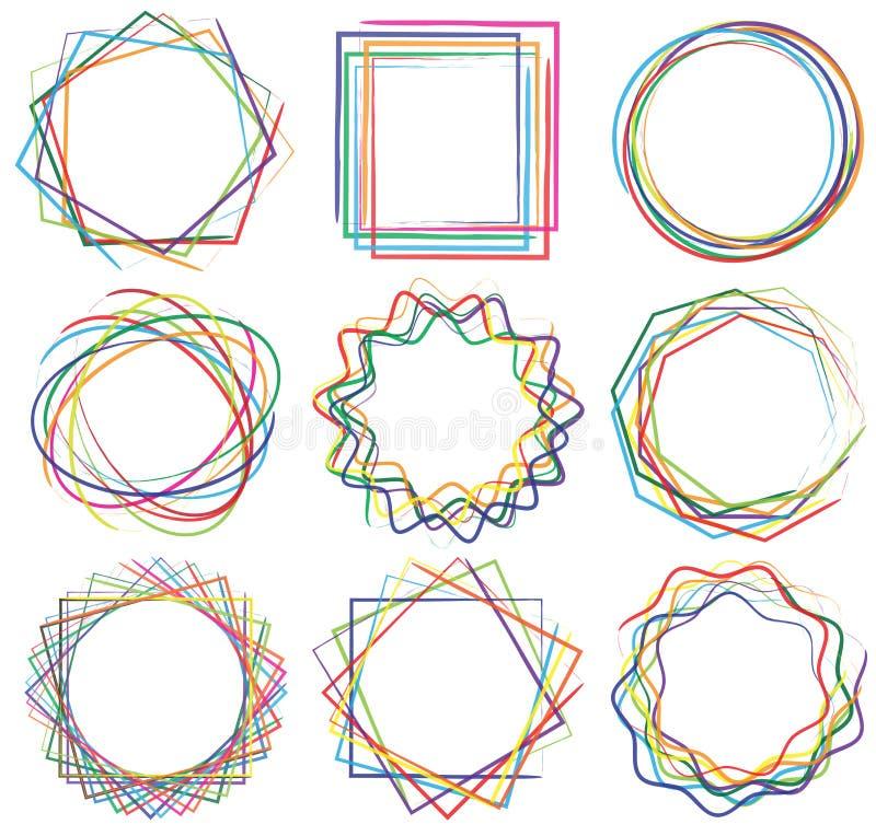 Van het de kunstkader van de lijnvorm reeks 04 vector illustratie