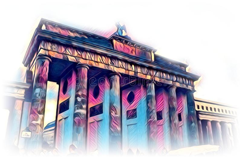 Van het de kunstontwerp van Berlijn de illustratie grappig ontwerp royalty-vrije illustratie