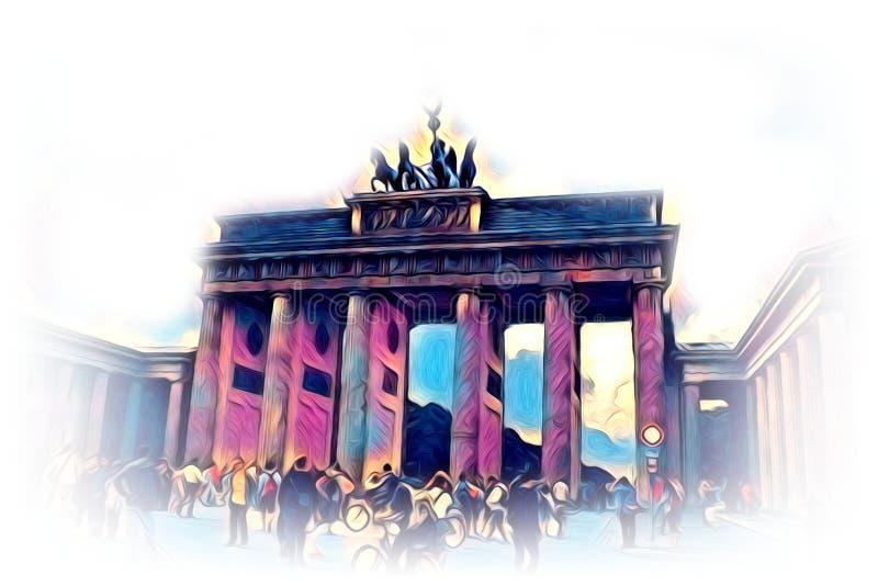 Van het de kunstontwerp van Berlijn de illustratie grappig ontwerp stock illustratie