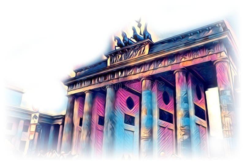 Van het de kunstontwerp van Berlijn de illustratie grappig ontwerp vector illustratie