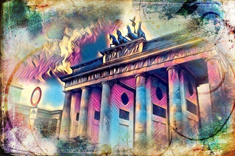 Van het de kunstontwerp van Berlijn de illustratie retro wijnoogst vector illustratie