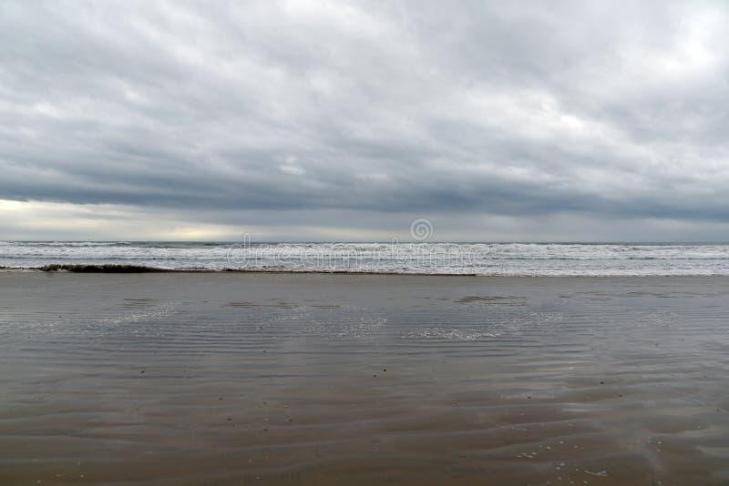 Van het de kuststrand van Californië het centrale slechte weer Pismostrand, de V.S. stock foto