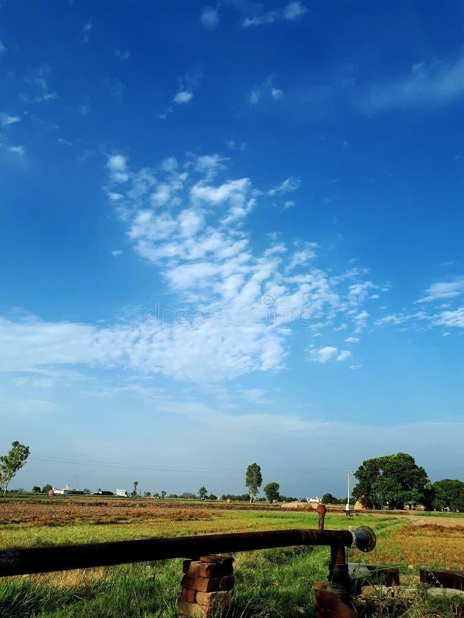 Van het de landbouwwater van India het de pompwerk de landbouw royalty-vrije stock afbeelding
