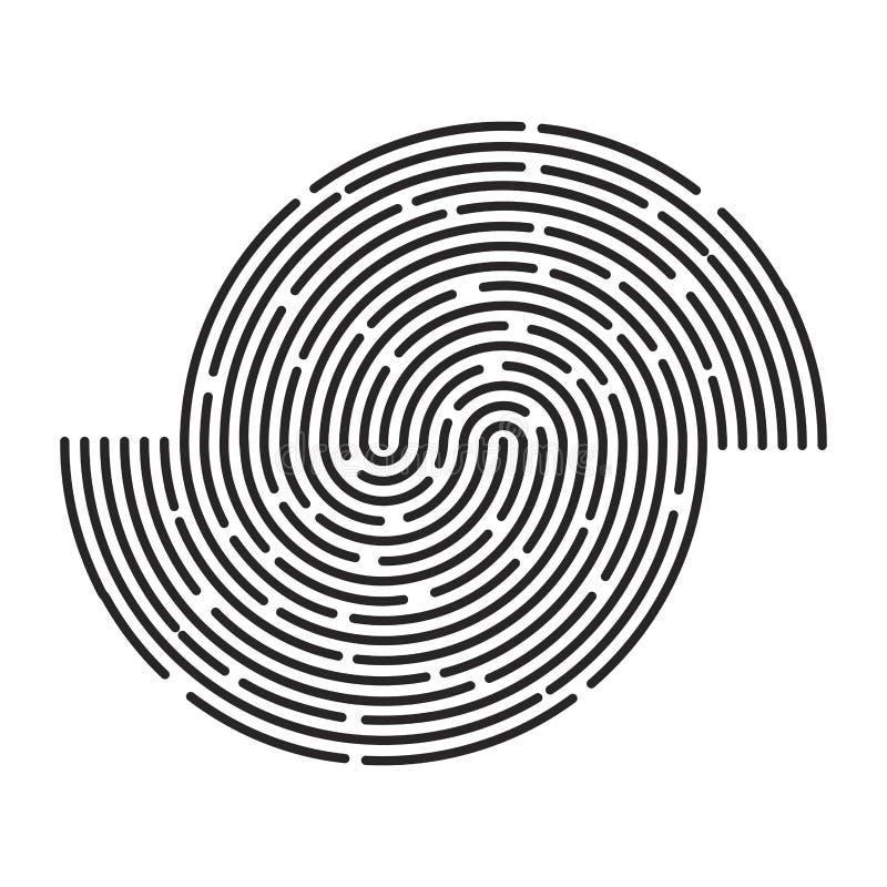 Van het de lijnenembleem van de cirkelstreep ontwerp van het het symboolpictogram het vector Mooi IL stock illustratie