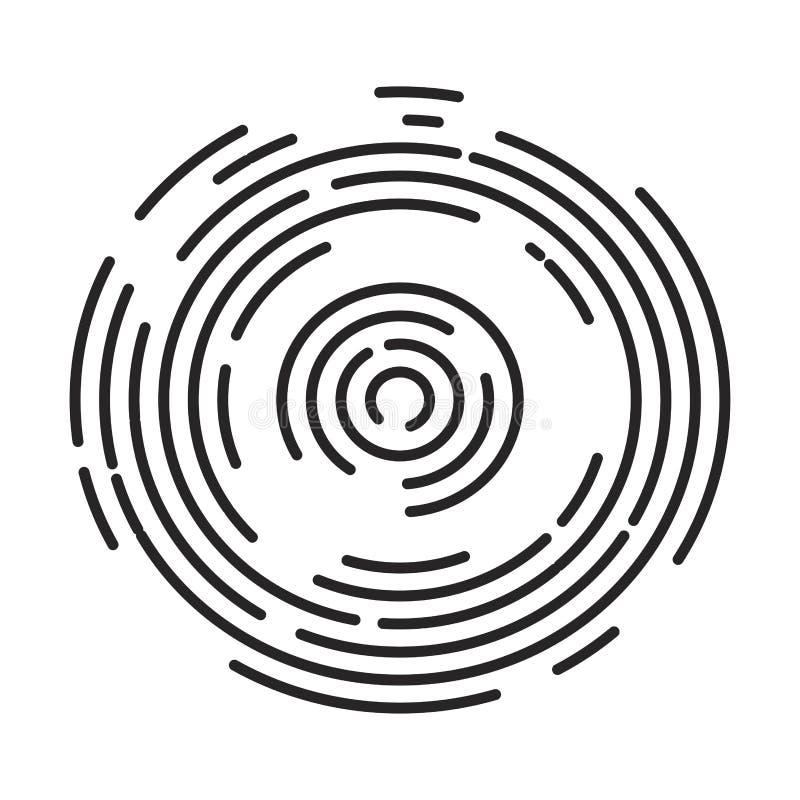 Van het de lijnenembleem van de cirkelstreep ontwerp van het het symboolpictogram het vector Mooi IL vector illustratie