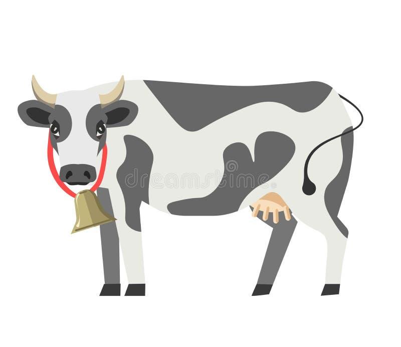 Van het de melk zuivelproduct van het koe vector vlak geïsoleerd pictogram het ontwerpmalplaatje vector illustratie