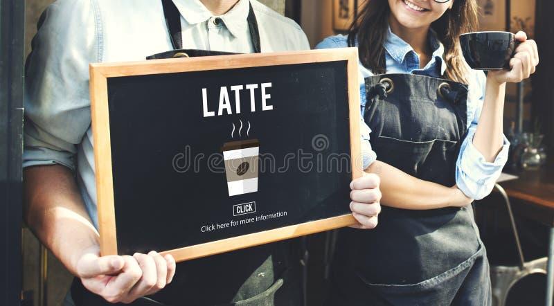 Van het de Melkschuim van de Lattekoffie van de het Schuimcafeïne de Drankconcept royalty-vrije stock foto's