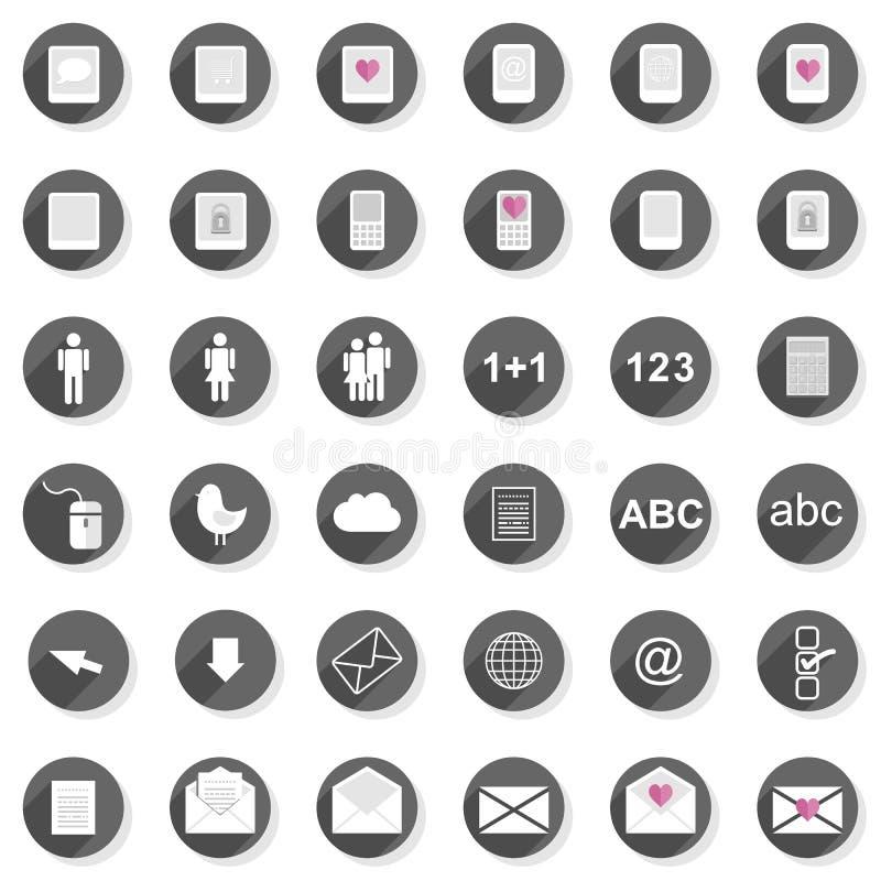 Van het de mensenmateriaal van de verbindingstechnologie moderne het pictogramreeks stock illustratie